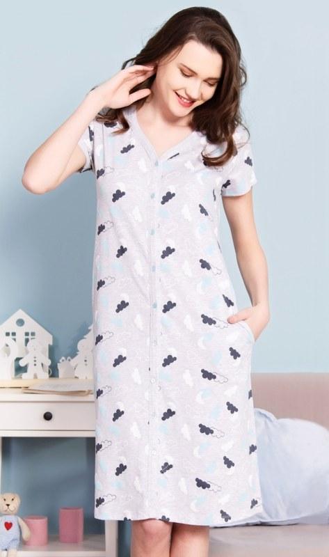 cb248064a3c Dámské domácí šaty s krátkým rukávem Nebe - Dámské oblečení šaty ...