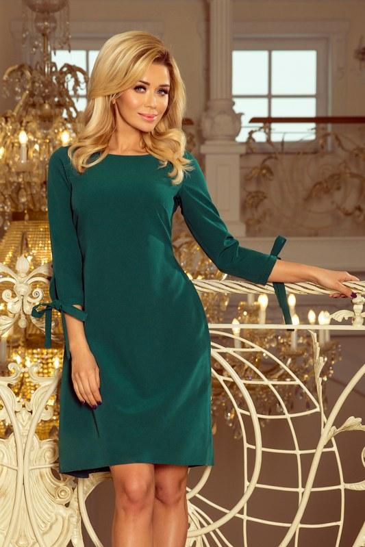 b9d9297b4ed5 Zelené dámské šaty s mašlemi 195-1 ALICE - Dámské oblečení šaty ...