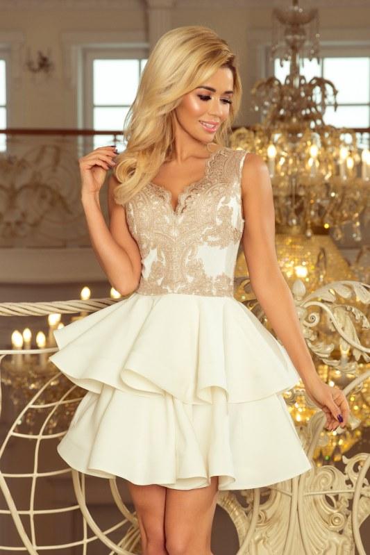 Dámské šaty s krajkovým dekoltem model 5963836