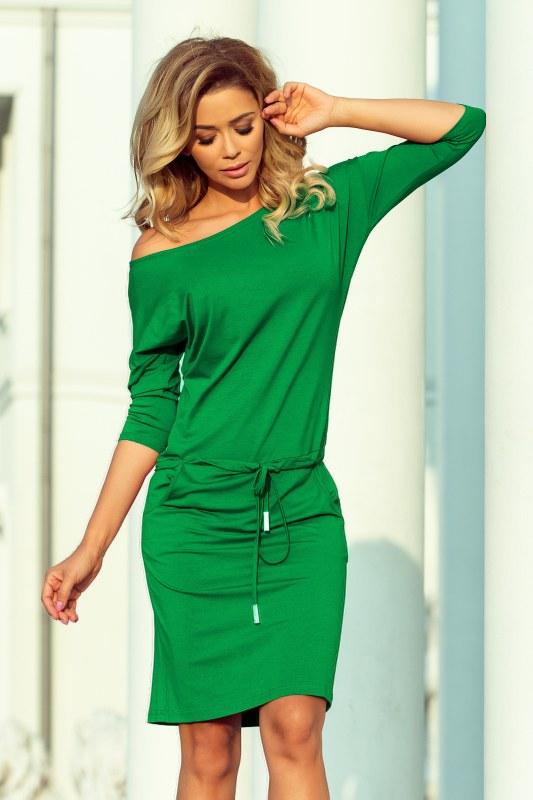 f7f7546b3c0e Dámské zelené sportovní šaty se zavazováním a kapsičkami 13-95 ...