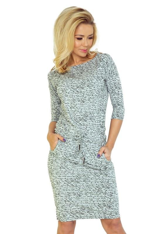 b7960fe465f1 Světle šedé sportovní šaty s nápisy 13-10 - Dámské oblečení šaty ...