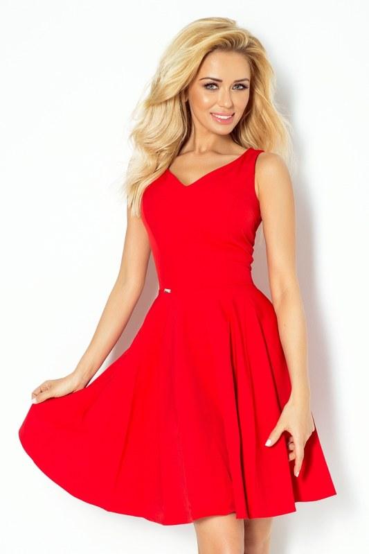 Červené šaty s výstřihem ve tvaru srdce 114-3 - Dámské oblečení šaty ... 8103c00477