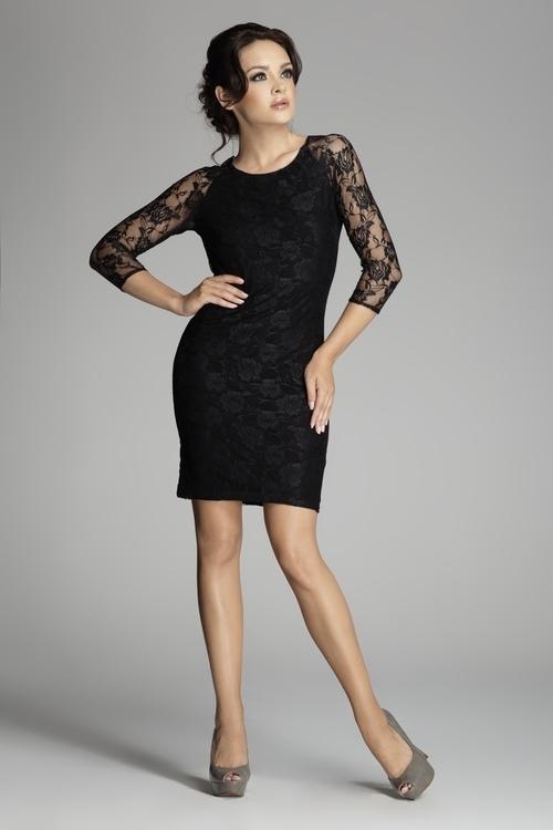 Dámské šaty M076 black - Dámské oblečení šaty