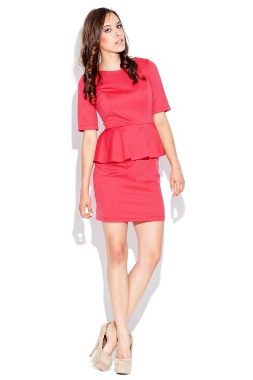 Dámské šaty K020 coral - Dámské oblečení šaty