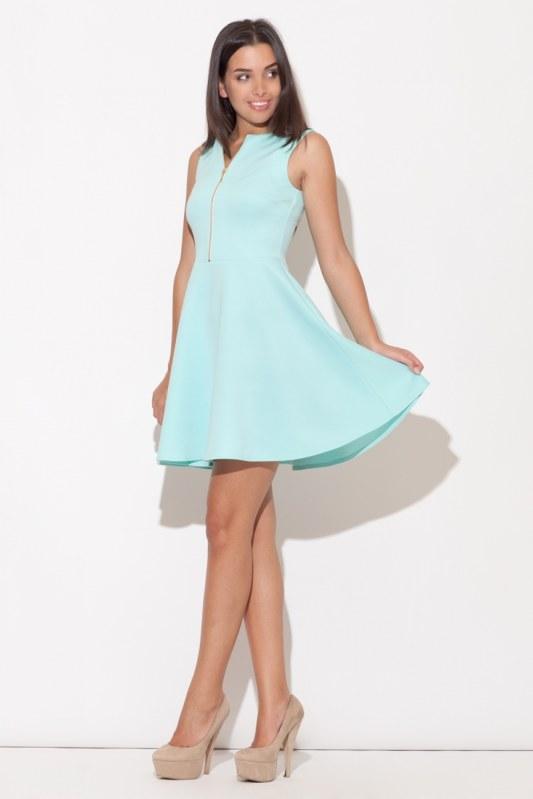 Dámské šaty K098 mint - Dámské oblečení šaty