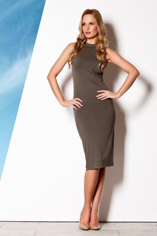 Dámské šaty M263 olive - Dámské oblečení šaty