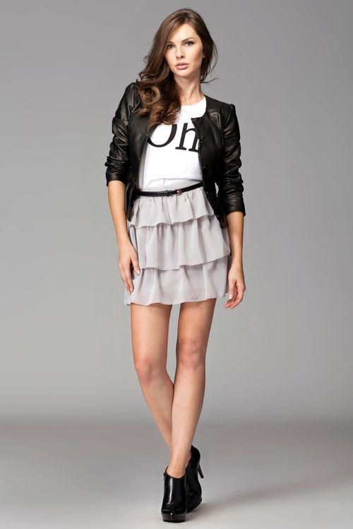 Dámská sukně M093 grey - Dámské oblečení sukně