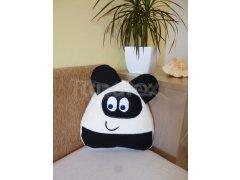Polštářek Mikro pou s ušima - panda