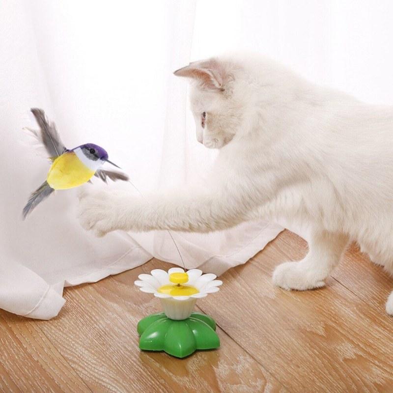 Hračka pro kočky - létající kolibřík
