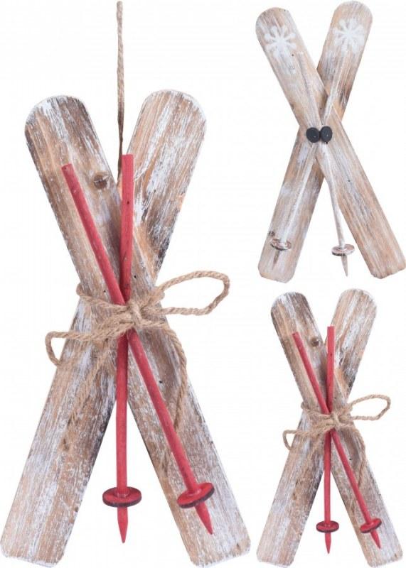 Lyže dřevěné