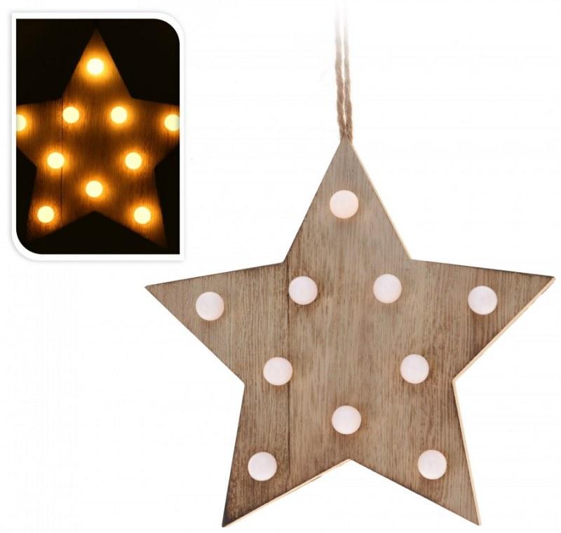 Svítící hvězda - led - 18cm