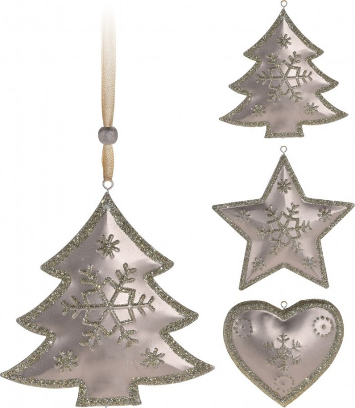 Vánoční ozdoba - plechová 20cm