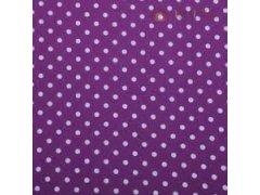Látka fialová puntík 0.4x2m