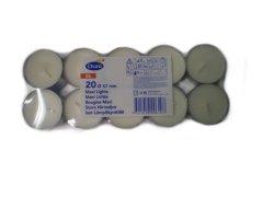 Svíčka čajová 8ho 60mm white 20ks Duni