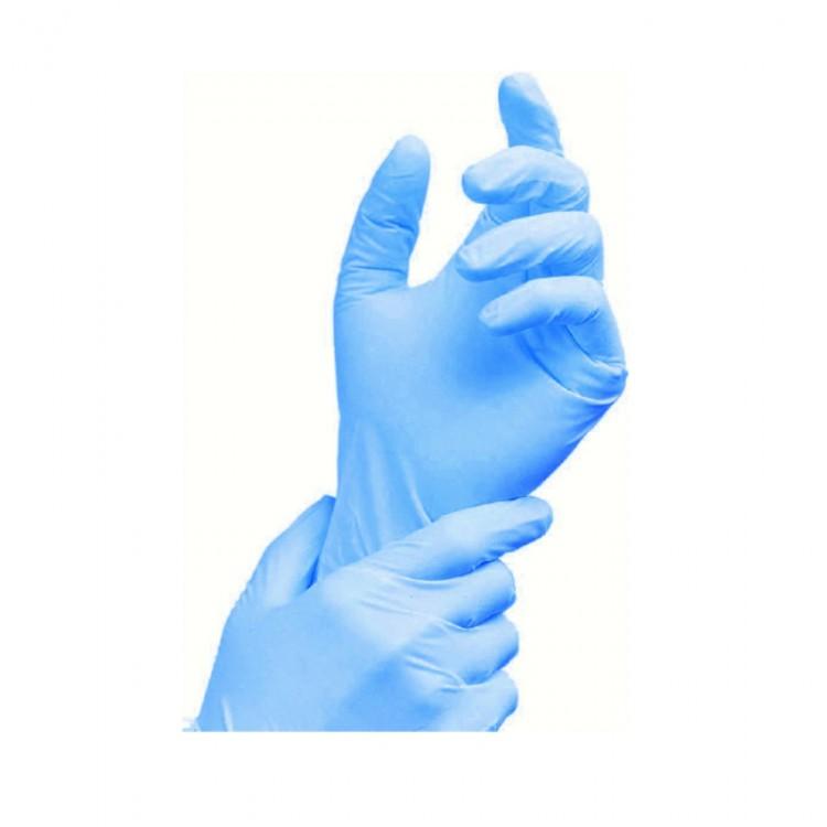 Rukavice Nitril velektrický XL 100k Nepudr modr