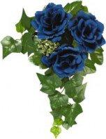 Květinové kroužky 11cm Modrý