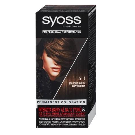 Syoss barva 4-1 středně hnědý