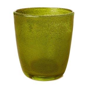 Candle Holder raindrop Green 10.5x9cm