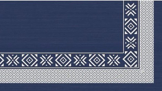 Ubrus 84x84 DSilk Winter Feeling Blue om