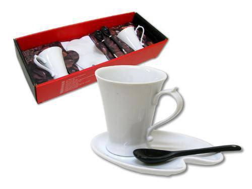 Kávový set 6ks keramika,2x šálek