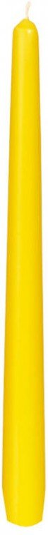 Svíčka 25cm Žlutá 1ks