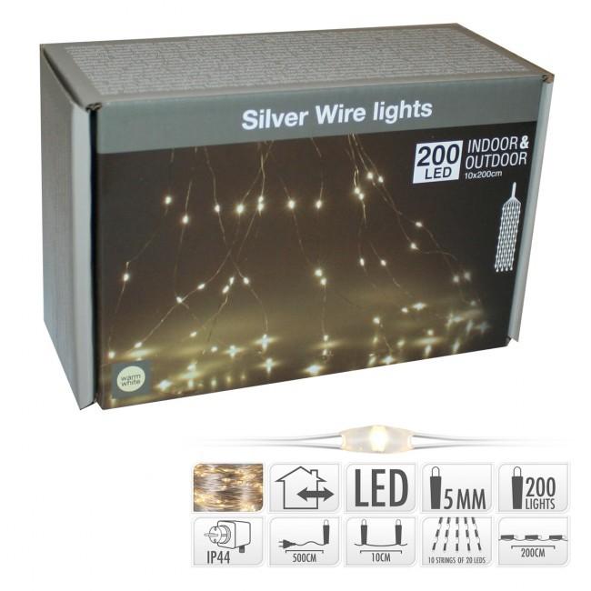 Vánoční osvětlení déšť LED 200ks