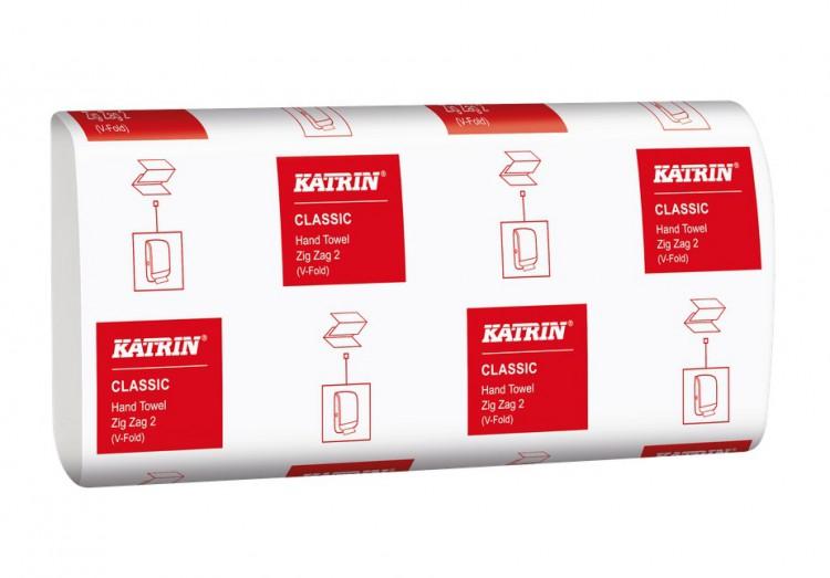 papírové ručníky Z-Z Bílé 2vrstvý 3000ks Katrin