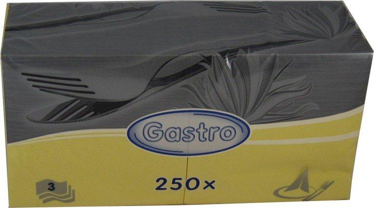 Ubrousky 33x33 3V žluté 250ks