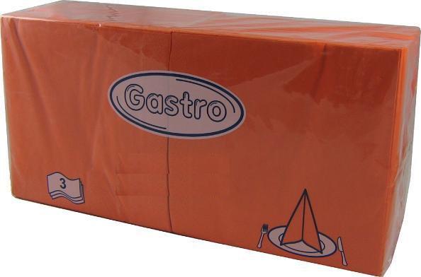 Ubrousky 33x33 3V Oranžové 250ks