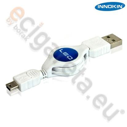 USB svinovací kabel s Mini-USB