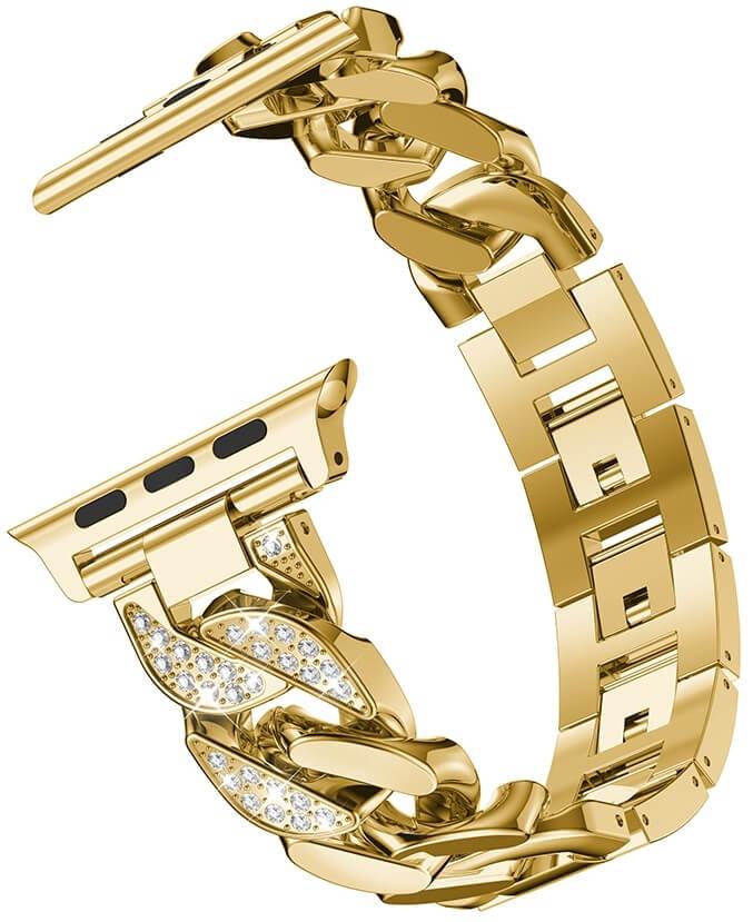 4wrist Kovový tah pro Apple Watch - Zlatý - 42/44 mm