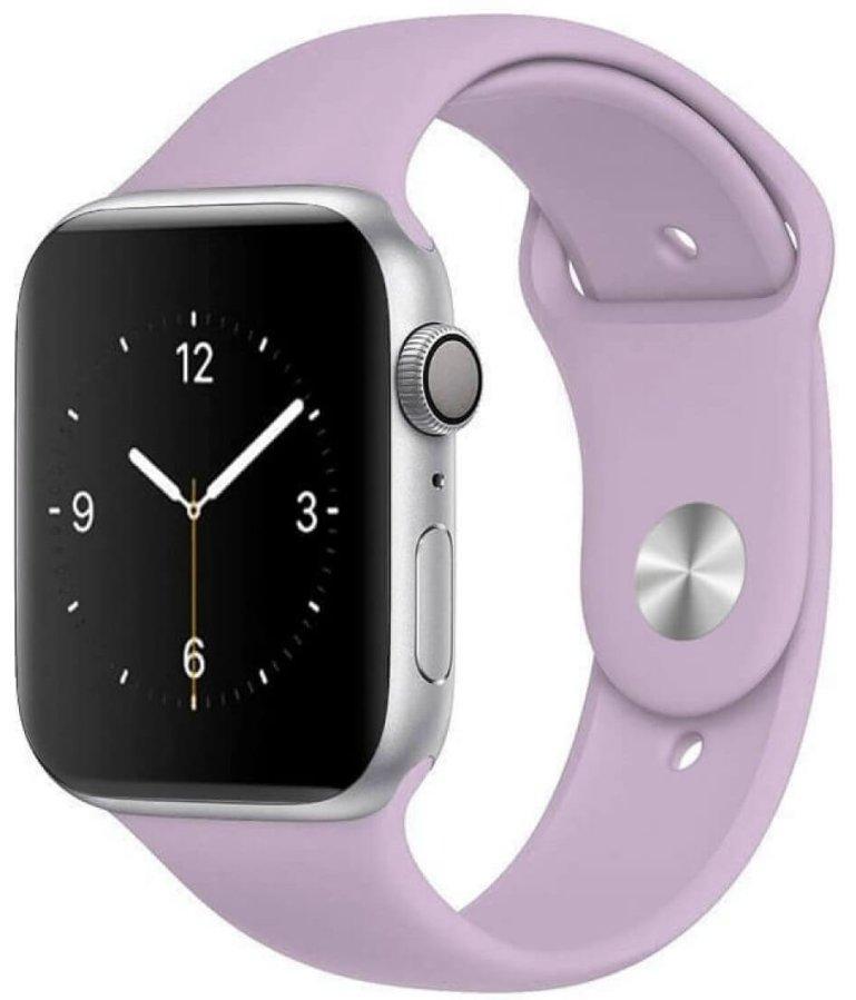 4wrist Silikonový řemínek pro Apple Watch - Světle fialový 42/44 mm - S/M