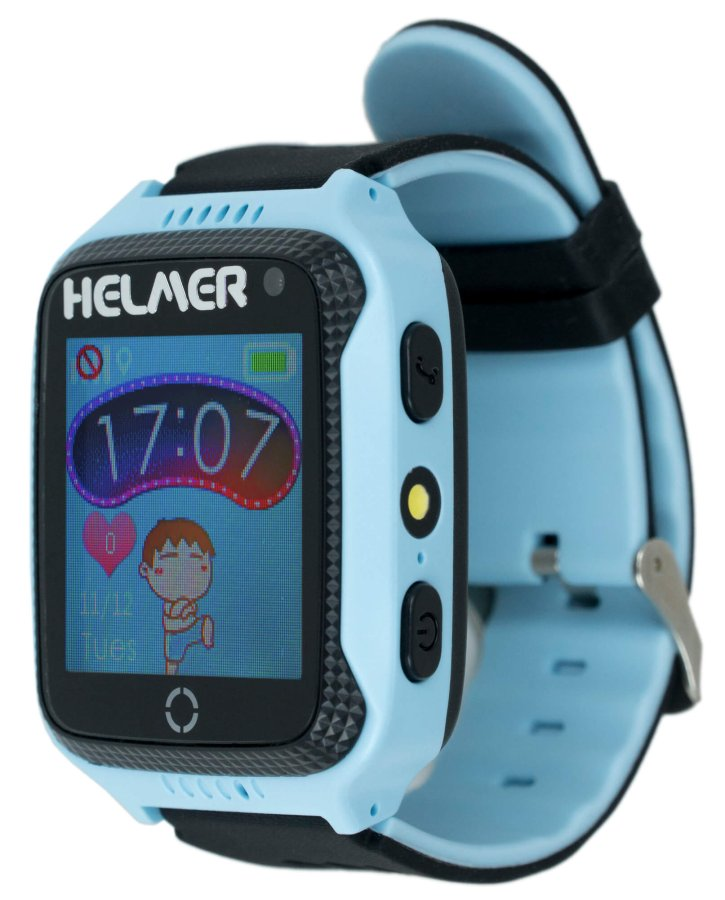 31bfd6fb4 Helmer Chytré dotykové hodinky s GPS lokátorem a fotoaparátem - LK 707 modré