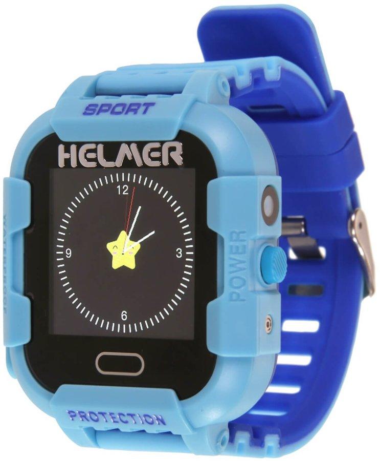 deb9ba033 Helmer Chytré dotykové hodinky s GPS lokátorem a fotoaparátem - LK 708 modré