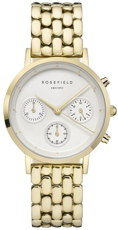 Rosefield The Chrono White Gold