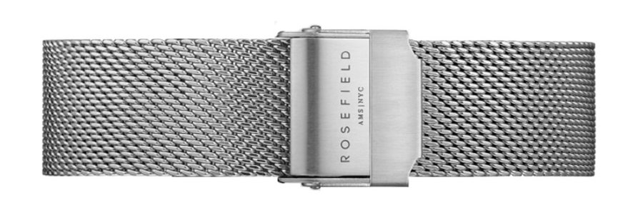 Rosefield Tribeca Mesh Silver Strap