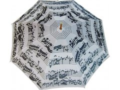 Blooming Brollies Holový deštník White Music Notes LRWP877/MM