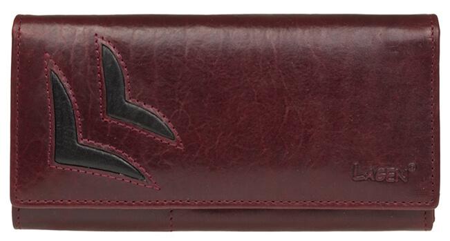 Lagen Dámská vínová kožená peněženka W/B 6011/T - Peněženky Elegantní peněženky