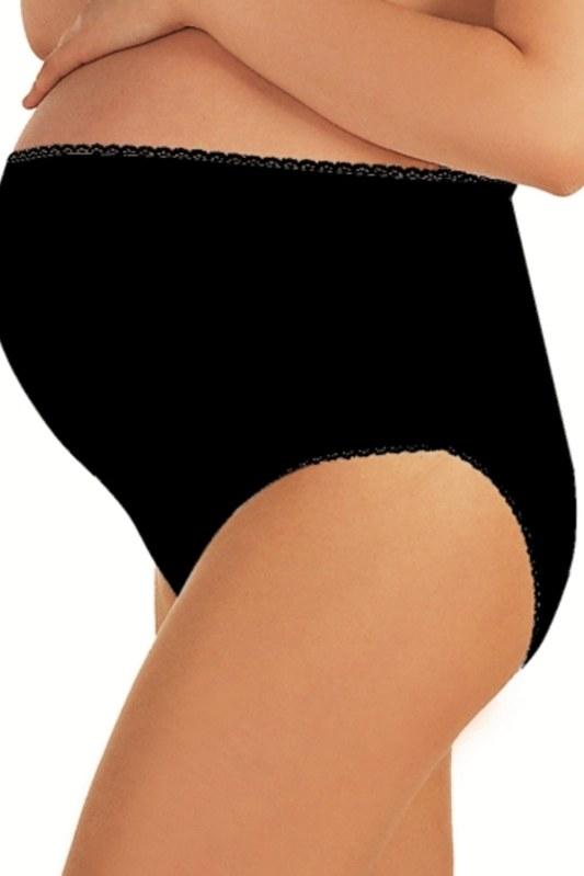 Těhotenské kalhotky Mama maxi black. Těhotenské kalhotky Mama maxi black - Dámské  spodní prádlo kalhotky 9a3b9e487d