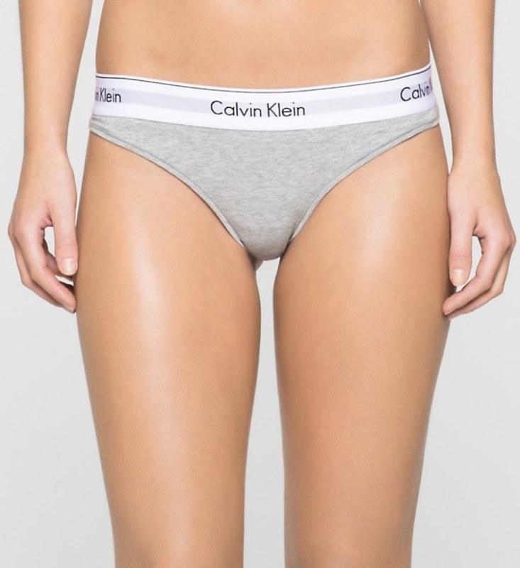 Tanga F3786E-020 šedá - Calvin Klein