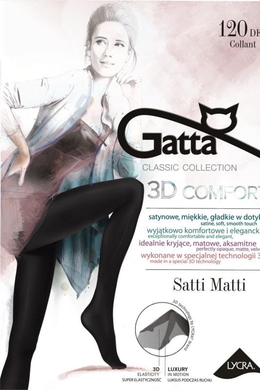 SATTI MATTI 120 - Punčochové kalhoty 3D 120 DEN - GATTA