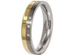 Boccia Titanium Snubní titanový prsten s diamanty 0129-04 49 mm