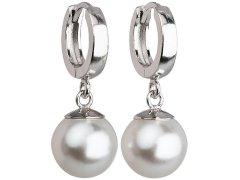 Evolution Group Stříbrné náušnice s perlou 31151.1 bílá
