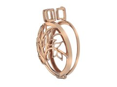 Hot Diamonds Přívěsek Emozioni Vita Rose Gold Plated Coin Keeper EK042