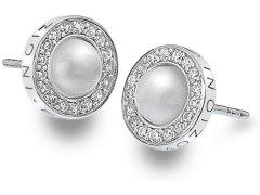 Hot Diamonds Stříbrné náušnice Hot Diamonds Emozioni Giove Pearl DE460