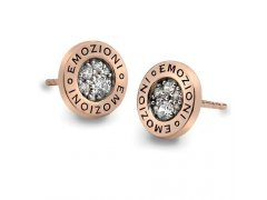 Hot Diamonds Stříbrné náušnice Hot Diamonds Emozioni Pianeta Rose Gold DE403