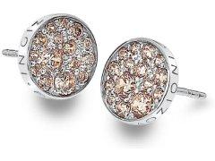 Hot Diamonds Stříbrné náušnice Hot Diamonds Emozioni Scintilla Champagne DE454