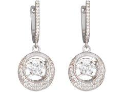 Preciosa Stříbrné náušnice s kameny Shimmer 5185 00