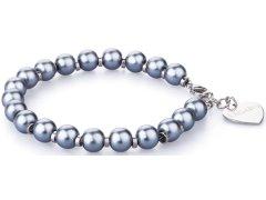 S`Agapõ Náramek s modrými perličkami Happy SHAC05