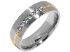 Silvego Snubní ocelový prsten pro ženy PARIS RRC2048-Z 52 mm